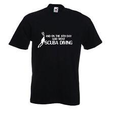 Und on the 8th Day God Went Tauchen Wassersport Aqua T-Shirt
