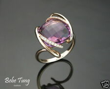 B.T Micro Craft 18K(750) Rose Gold Amethyst Diamond Ring