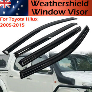 Sun Window Visor Wind Rain Deflector Guard Weather Shield for Toyota Hilux 05-15