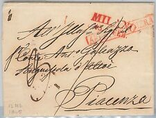 LOMBARDO VENETO storia postale BUSTA PREFILATELICA: MILANO con annullo FRONTIERA