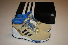 "Adidas ZX Flux ""Winter"" Sand Beige Leather Sneaker Boots Men Size 12, New"