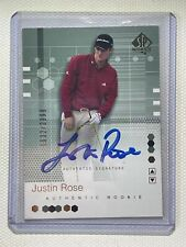 2002 Upper Deck SP AUTHENTIC GOLF ON CARD AUTO JUSTIN ROSE #/2999 OLYMPIC GOLD!
