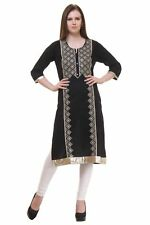 "Indian Bollywood Kurti Designer Embroidery Women Ethnic Dress Tunic (Medium 40"")"