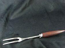 VINTAGE BAKELITE KITCHEN UTENSIL: Two Prong Fork Androck Burgandy Bullet Handle