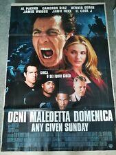 OGNI MALEDETTA DOMENICA Manifesto 2F Poster Originale 100x140 AL PACINO STONE
