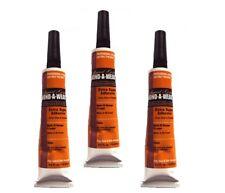3 x Liquid Gold Glue 1/2 oz Tube Hair Extension/Bond/Weave/Weft