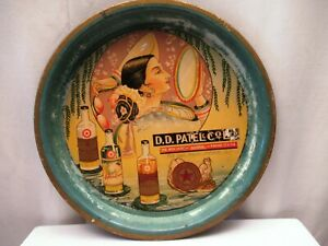 Vintage Castor Oil Cocoa Hair Nut Oil Advertising Tin Tray By D.D.Patel Nairobi""