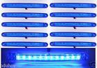 10 x 24v Azul 12 LED Contorno Lateral Luces de marcaje PARA EL CARRO REMOLQUE