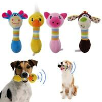 Funny Animal Shape Pet Puppy Dog Toys Plush Sound Squeaker Chewing Toys
