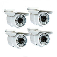 Amview HD 1800TVL 48IR CCTV Home Surveillance Camera 4pcs Outdoor Power AC
