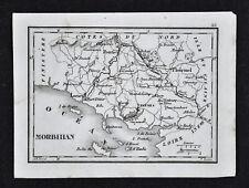 1833 Perrot Tardieu Map - Morbihan Lorien Vannes Pontivy Ploermel - France