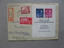 GERMANY DDR, R-cover 1955, ao S/S  Buchenwald Ravensbrück Sachsenhausen, WW-II