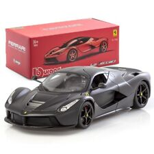 Bburago 1:18 Ferrari LaFerrari Matt Black Collectable Diecast Steel Model Car