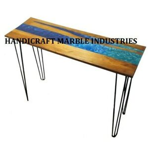 Epoxy Table Live Edge Wooden Table Epoxy Resin River Table Natural Wood 24X36