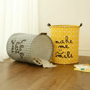 Dirty Clothes Basket Laundry Hamper Baby Toy Bin Sundries Storage Bag UK 63L