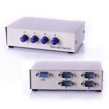 1x4 or 4x1 - 4-Port AB Manual Sharing DB9 RS232 Serial Switch 2-Way Selector Box