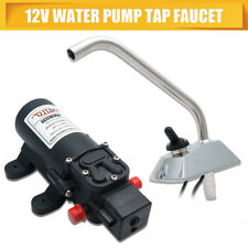 12V Galley Garden DC Water Pump Electric Faucet Kit For RV/Yacht/Boat/Caravan