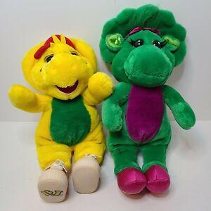 Vintage Barney Friends Baby Bop (1993) & BJ (1994) Plush Stuffed Toy - Read Desc