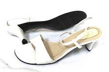 LIZFLEX LIZ CLAIBORNE SIZE 7 WHITE  WEDDING PROM GRADUATION SANDALS FLEX SHOES