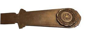 The Wellman Bronze & Aluminum Co Bronze Craft Antique Advertising Letter Opener
