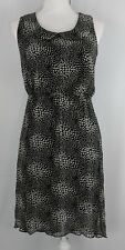 ACCIDENTALLY IN LOVE  HiLo Dress Black tiny hearts Sheath Dress Size Medium