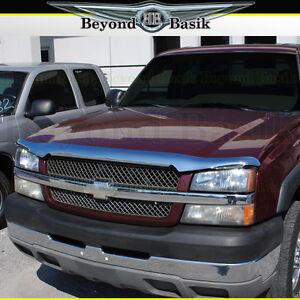 2003-2005 Chevy Silverado 1500 2003-2004 2500 HD Chrome Bug Shield Hood Guard
