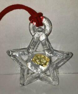Kosta Boda Sweden Star Ornament Bertil Vallien Christmas Swedish Glass 1976