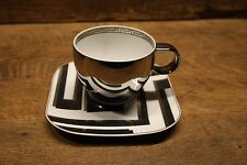 """VERSACE by Rosenthal """"Dedalo Platinum""""   cup and saucer   NEW OLD STOCK!"""