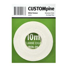 CustomPine WHITE IRON-ON MELAMINE EDGING TAPE for Covering 16mm Board, 21mmx10m