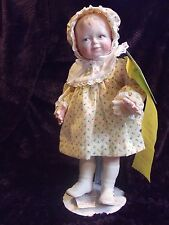 "Sunshine 14"" Porcelain Doll By Lucille Garrard 1983 UFDC convention San Diego"
