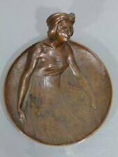 Schale,Gustav Gurschner,Wien,Bronze,Jugendstil,Frau,Visitenkartenschale,um 1900