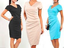 Party Patternless Midi Wrap Dresses