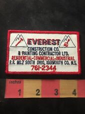 Vtg EVEREST CONSTRUCTION PAINTING Nova Scotia Canada Advertising Patch 88XB