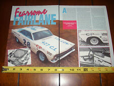 1967 Ford Fairlane 427 Nascar Race Car - Original 1990 Article