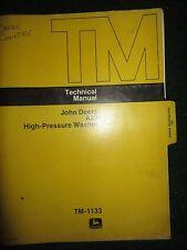 John Deere A22 High Pressure Washer Service Repair Technical Manual TM-1133 1974