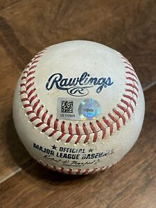 7/21/21 Mets@Reds Jeff McNeil Hit Single Game Used Ball Pete Alonso