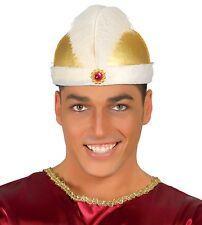 Maharaja KING doré sombrero Indien Chapeau # Couronne Déguisement Adulte