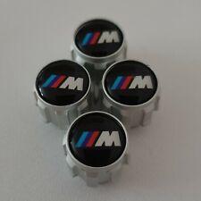 New Genuine BMW Set of 4 Aluminium Tyre Valve Caps with M Logo 36122447402 Gift