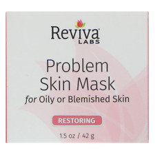 NEW REVIVA LABS PROBLEM SKIN MASK OILY & BLEMISH ADVANCED TREATMENT CARE DAILY