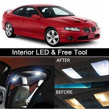 11Pcs White LED Lights Interior Package kit for 2004-2006 Pontiac GTO+Free Tool