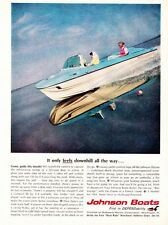 1960sJohnson Outboard Motor ad Great Color!