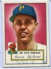1952 Topps Baseball Card Ed Fitzgerald Catcher Pittsburgh Pirates R/B EX MT #236