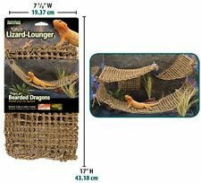 Penn Plax Lizard Lounger 100% Natural Seagrass Fibers For Anoles Bearded Dragons