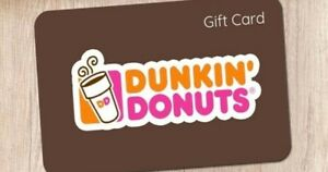 $5 USD Dunkin Donuts Promo Card (expires 8/31/21)