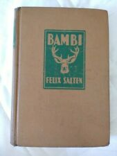 "Felix Salten ""Bambi"" (1929) G- Hardcover No Dust Jacket"