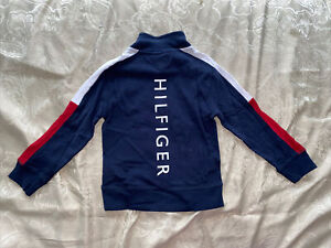 Toddler Boy Tommy Hilfiger Navy Long Sleeve Logo Crew Neck Sweater Size 5 NWT