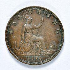 GB VICTORIA 'BUN HEAD' FARTHING 1878 ++ HIGH GRADE!! ++ [826-12]