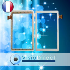 """Vitre ecran tactile pour ARCHOS 101 Helium Lite 10"""" HXD-1027A1 ZP-9194 blanc"""