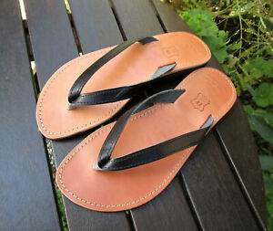 Men's Handmade Greek Leather Sandals, Flip Flop Sandals