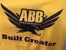 ABB Performance T-Shirt XL Yellow (2-Sided) American Body Building NEW NWT